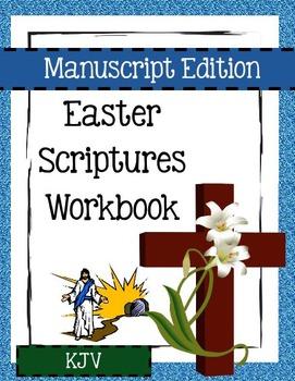 Easter Scriptures Workbook - Level 2 - KJV (Manuscript)