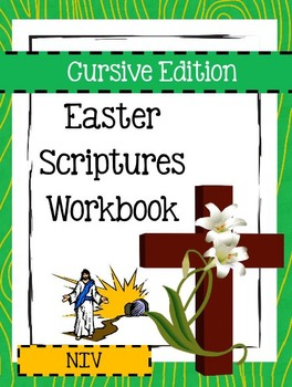 Easter Scriptures Workbook - Level 3 - NIV (Cursive)
