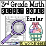 Easter Secret Code Math Worksheets 3rd Grade Common Core