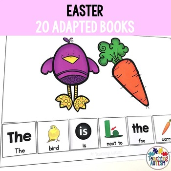 Easter Adapted Books Sentence Building