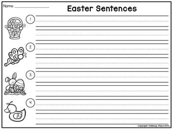 Easter Sentence Scramble