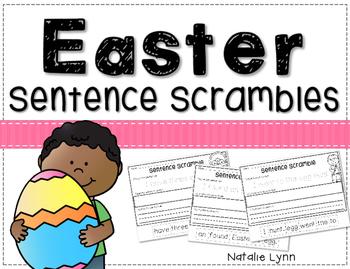 Easter Sentence Scrambles