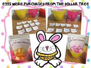 Easter Sentence Scrambles-Just add eggs