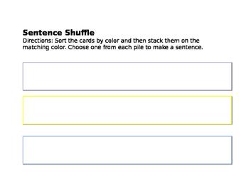 Easter Sentence Shuffle