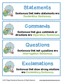 Easter Activities | Writing Center Activity | Literacy Centers | Sentence Sort