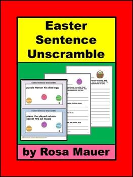 Easter Sentence Unscramble