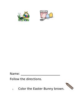 Easter Settle In Worksheets