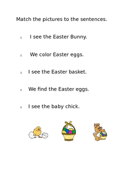 Easter Settle In Worksheets