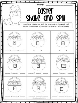 Easter Shake and Spill:  Composing and Decomposing Numbers