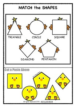 Chick Shapes Sorting Activity