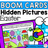 Easter Shapes Math Centers | Digital Game Boom Cards Dista