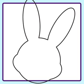 Easter Shapes / Outlines or Borders Clip Art Set for Commercial Use