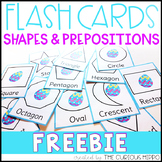 Flash Cards FREEBIE! Easter Themed Shapes and Prepositional Words