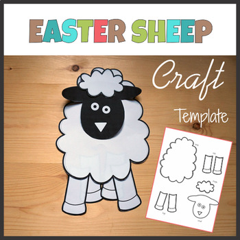 Easter Sheep Craft - Template