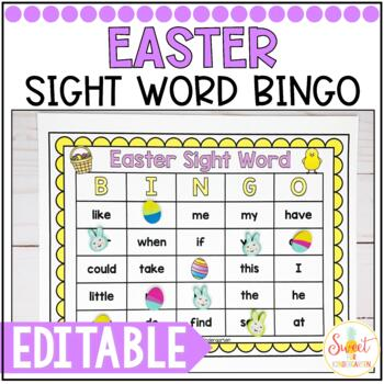 Easter Sight Word Bingo