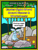 Easter Sight Word Board Games and Worksheets