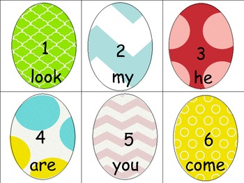 Easter Sight Word Centers