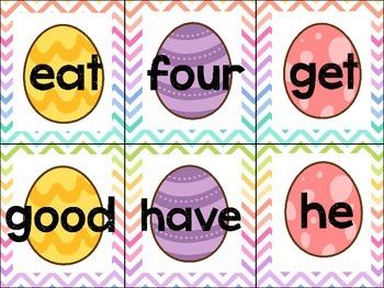 Easter Sight Word Game (Primer List)