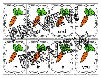 Easter Sight Word Game using Fry Words 1-100: Sneaky Bunny