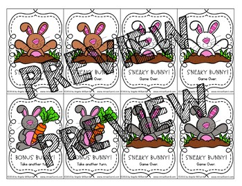 Easter Sight Word Game using Fry Words 101-200: Sneaky Bunny