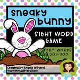 Easter Sight Word Game using Fry Words 201-300: Sneaky Bunny
