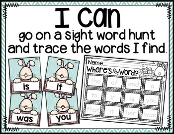 Easter Sight Word Hunt {Write the Room Literacy Center}