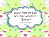 Easter Sight Word Hunt!  Write the Room with Secret Messages!