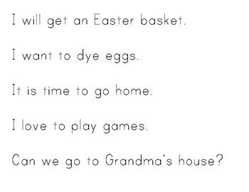 Easter Sight Word Sentence Hunt