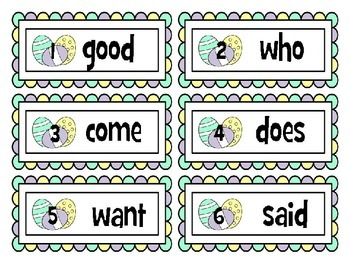 Easter Sight Word Write and Graph Room.  (Wonders Reading Words)