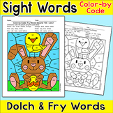 Easter Activities: Color by Sight Words Easter Bunny
