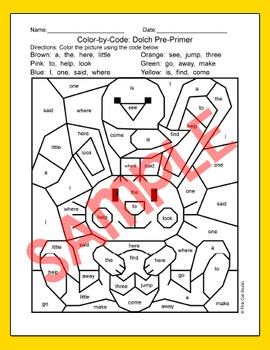 Easter Activities Color by Sight Words Bundle: Easter Bunny and Chicks