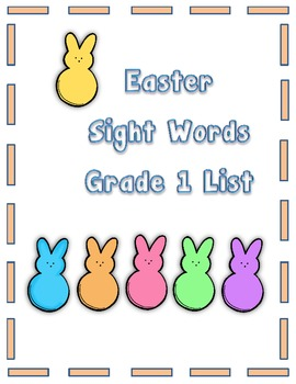 Easter Sight Words First Grade List
