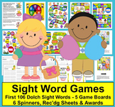 Easter Activities:  Sight Word Game Boards - First 106 Dolch Words