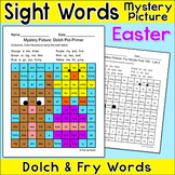 Easter Activities Color by Sight Words Mystery Picture - B