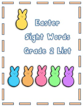 Easter Sight Words Second Grade List