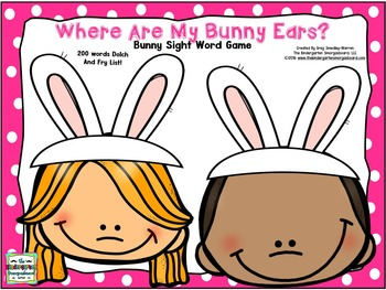 Easter Sight Words!  Where Are My Bunny Ears?  Sight Word Game