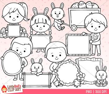 Easter Sign Kids Clip Art
