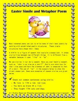 Easter Simile Metaphor Poem: Seasonal Poetry