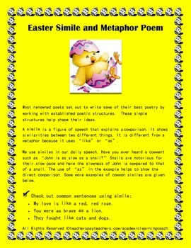Easter Simile Metaphor Poem: Seasonal Poetry