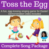 """Easter Singing Game   """"Toss the Egg"""" by Lisa Gillam   Complete Song Package"""