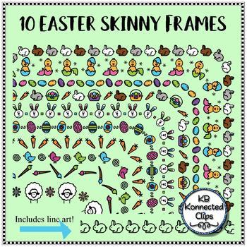 10 Easter Skinny Frames - Ink Savers - Blackline too!