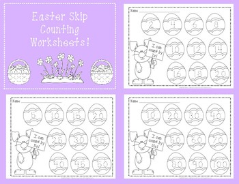 Easter Skip Counting Worksheets!