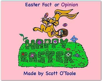 Easter Smartboard Fact or Opinion Language Arts Lesson