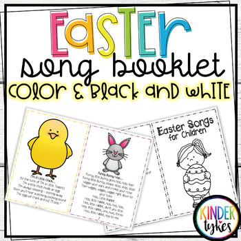 Easter Song Booklet for Children