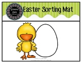Easter Sorting Mat (pdf) FREEBIE
