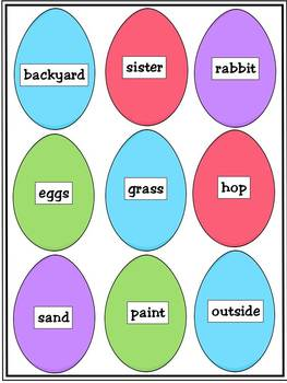 Easter - Sorting Nouns and Verbs