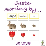 Easter Sorting by Size with Real Pictures