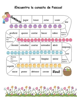 Easter Spanish Activities 6-12/ las Pascuas