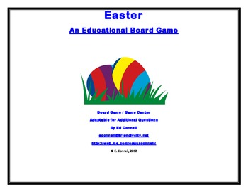 Easter Spanish Board Game