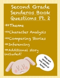 Spanish Reading Questions (Senderos textbook- theme part 2)